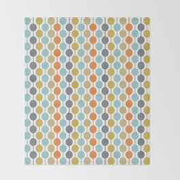 Retro Circles Mid Century Modern Background Throw Blanket