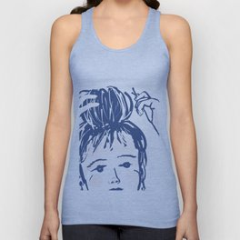 Messy bun day Unisex Tank Top