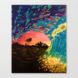 Hawaiian Wave Canvas Print