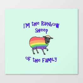 Rainbow Sheep of the Family Canvas Print