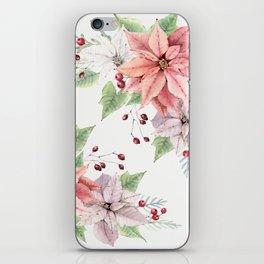 Poinsettia 2 iPhone Skin