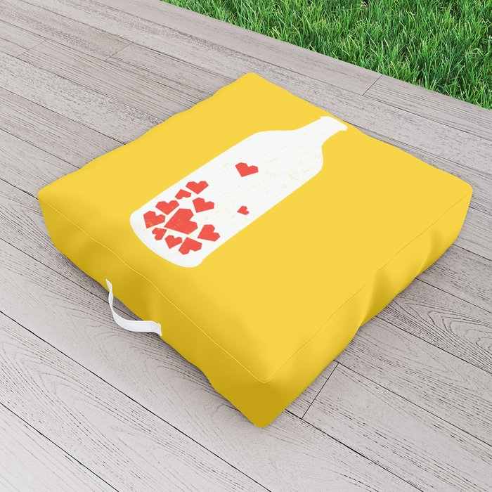 Message in a bottle Outdoor Floor Cushion