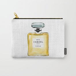 Classic Yellow Perfume Parfum Fashion Bottle Cute Minimalist Carry-All Pouch