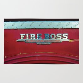 Fire Boss - Fort Worth - Fire Engine Red and Chrome Rug