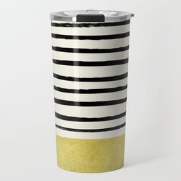 Gold x Stripes Travel Mug