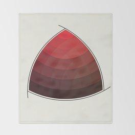 Le Rouge-Orangé (ses diverses nuances combinées avec le noir) Remake (Interpretation), no text Throw Blanket