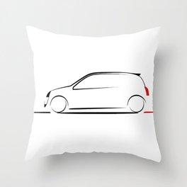 Clio silhouette Throw Pillow