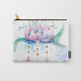 Be Zen Lotus Flower Watercolor Carry-All Pouch