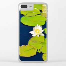 Dark Blue Pond by Teresa Thompson Clear iPhone Case