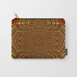 Peace Mandala - Ruby & Gold Carry-All Pouch