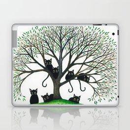 Borders Whimsical Cats in Tree Laptop & iPad Skin