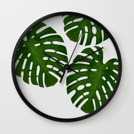Monstera Leaf III Wall Clock