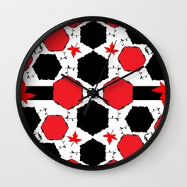 Red Black Wall Clock