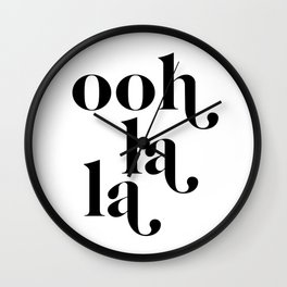 ooh la la Wall Clock