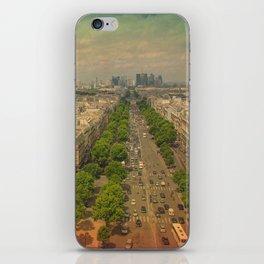 Avenue De Champs Elysees in Paris iPhone Skin