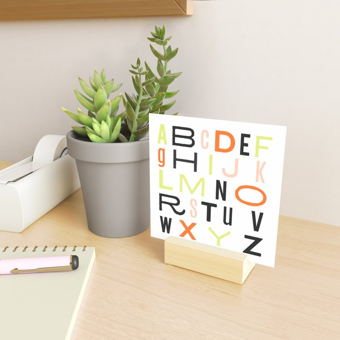 Eclectic Alphabet Mini Art Print
