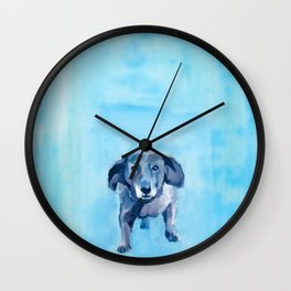 The Dachshund Strut Wall Clock