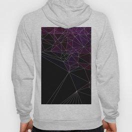 Polygonal purple, black and white Hoody