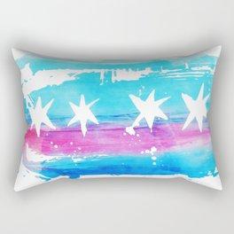 Chicago Flag Single Pull Rectangular Pillow