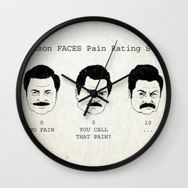 Swanson FACE Pain Rating Scale Wall Clock