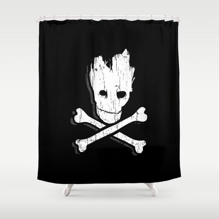 Groot & Bones Shower Curtain