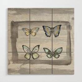 Butterfly study Wood Wall Art