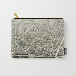 Vintage Pictorial Map of Haverhill MA (1876) Carry-All Pouch