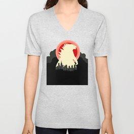 """May Godzilla destroy this home last"" Classic Movie Poster Unisex V-Neck"