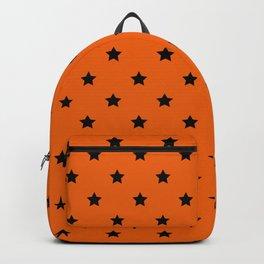 Orange and Black Stars Pattern Backpack