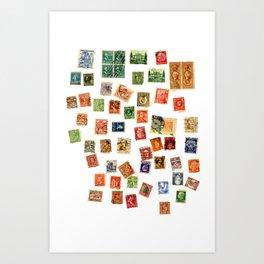 postal Art Print