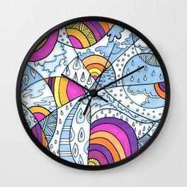 Rain & Rainbows Wall Clock
