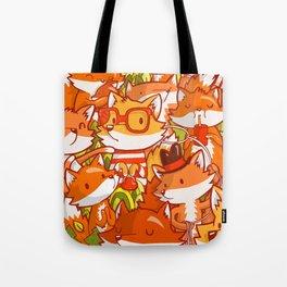 The Fox Family Tote Bag