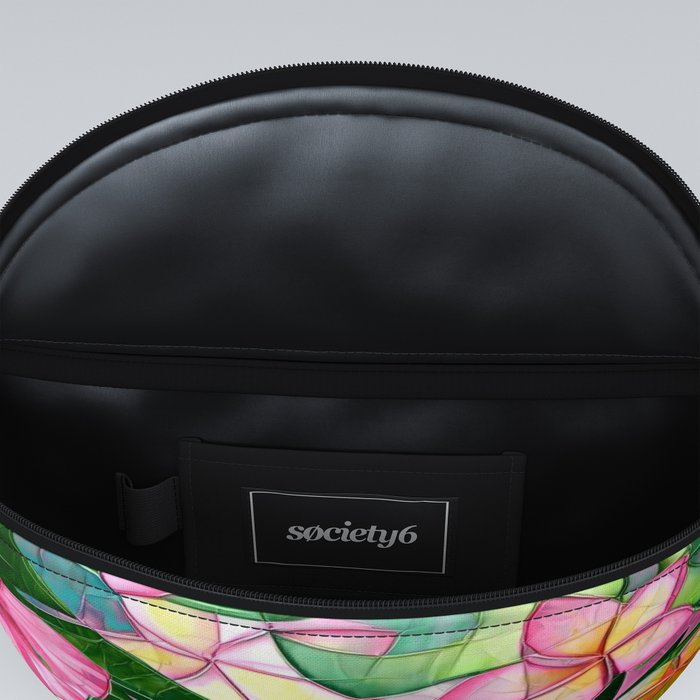 Vibrant Tropical Floral Abstract Fanny Pack