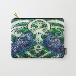 Celtic Peacocks Carry-All Pouch