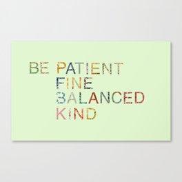Skinny Love Quote Canvas Print