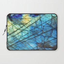Royal Labradorite Crystal Agate Gemstone Print Laptop Sleeve