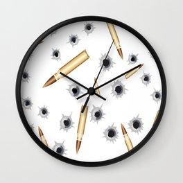 BULLETS N BULLET HOLES Wall Clock