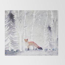 FOX FOX FOX Throw Blanket
