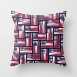 USA Baseball Flag Throw Pillow