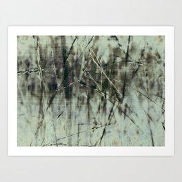 Emerald grass ~ Abstract Art Print