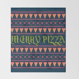 Merry Pizza Throw Blanket