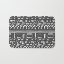 Mud Cloth on Gray Bath Mat