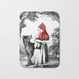 Hey there little red riding hood Bath Mat