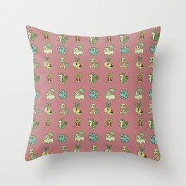 Grass Starters Pattern Throw Pillow
