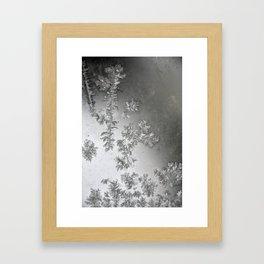 Window frost Framed Art Print