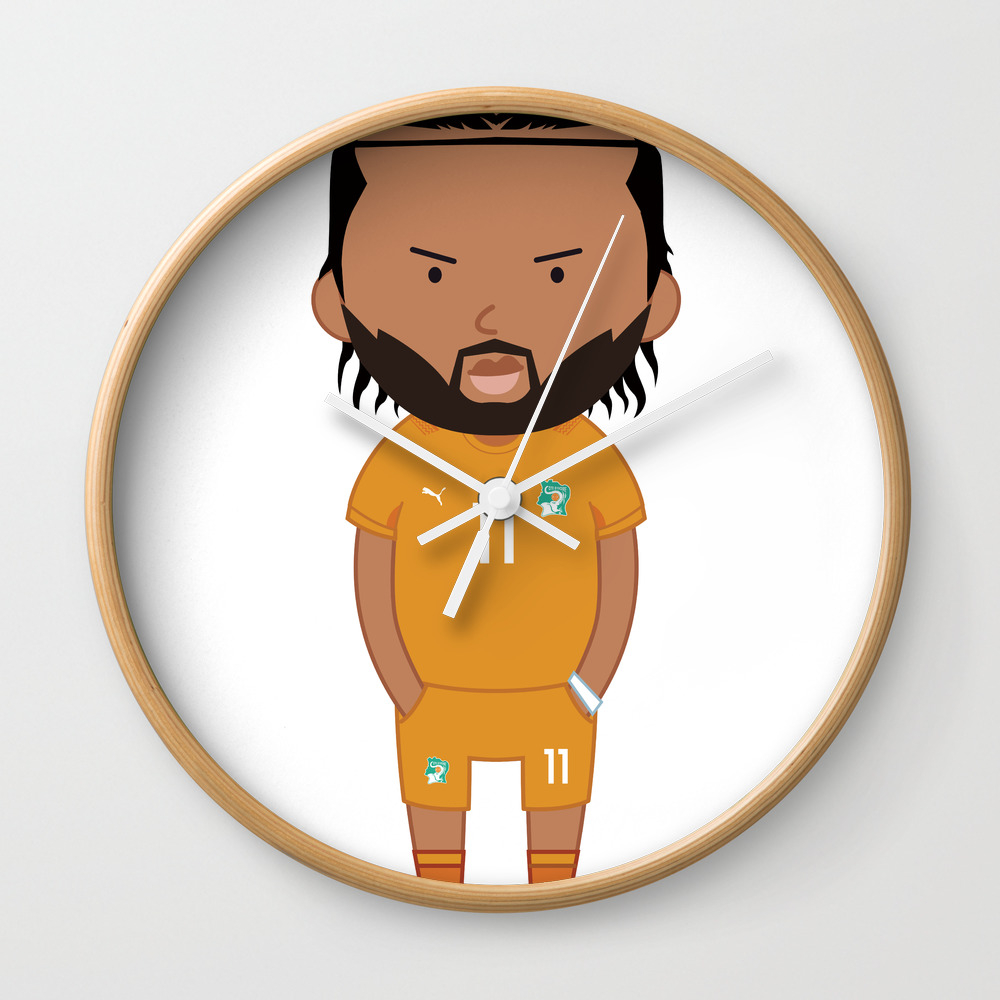 Didier Drogba - Ivory Coast - World Cup 2014 Wall Clock by Toonsoccer CLK9022451