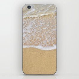 Beautiful wave surfing on a sandy beach iPhone Skin