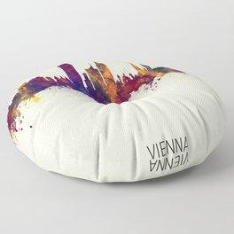 Vienna Austria Skyline Floor Pillow