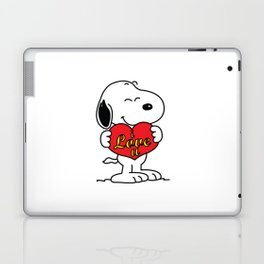 love you snoopy love Laptop & iPad Skin