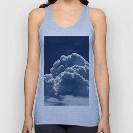 Puffy Cumulus clouds on Deep Blue Sky Unisex Tank Top